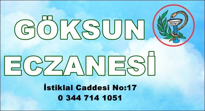 Göksun'da Nöbetçi Eczane-28 Ekim 2020 Çarşamba