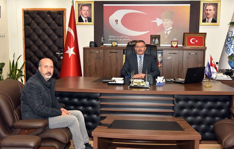 Duygu İnşaat Şube Müdüründen Başkan Aydın'a ziyaret!