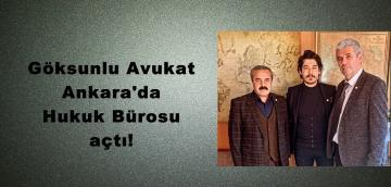 Göksunlu Avukat Ankara'da Hukuk Bürosu açtı!