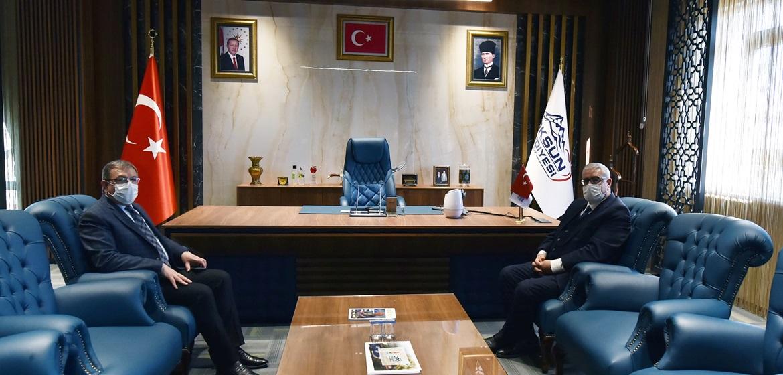 Pazarcık Belediye Başkanı Göksun'u ziyaret etti!