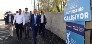Başkan Güngör Gafarlı'daki Çalışmaları İnceledi!